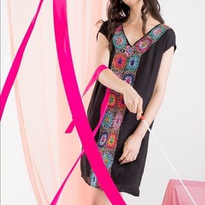 [THML] floral embroidered shift dress